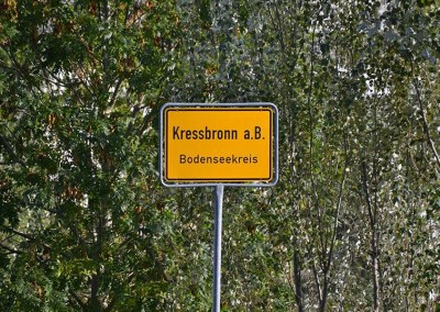 Einfahrt Kressbronn, Ortsschild - © Obsthof Mainberger